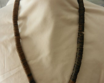 Vintage 1950's-60's African  Hardwood/Coconut Shell Necklace