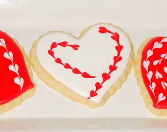 Valentine's Day cookies, Heart shaped cookies