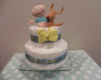 Rugrats Diaper Cake w/Goodies Inside