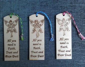 Fairy Bookmarks, Celtic Fairy Collections, I Believe in Fairies, Personalised.
