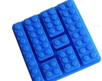 7-Brick Lego Set Silicone Mold - Ice Tray - Chocolate - Soap - Fondant Mold - Cake Decorating - SM0048