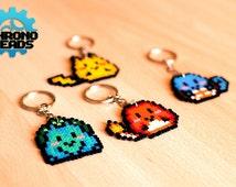 Pokémon Starters - Gen 1 - Pikachu, Charmander, Bulbasaur e Squirtle - Keychain - hama beads - perler beads - hamabead