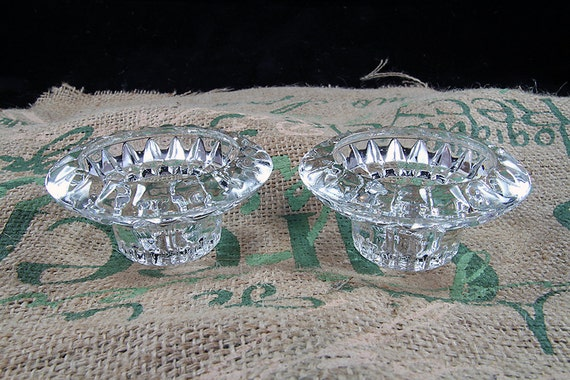 Lead Crystal Candle or Votive Holders Home Decor Dining Light Table Setting