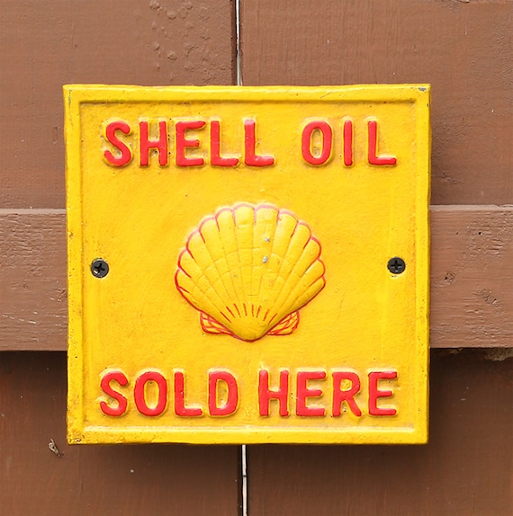 Shell Oil Sold Here Cast Iron Vintage Style Sign, Cast Iron Sign, Shell Oil sign, Shell advertisement sign, Shell spirit sign, Shell Sign