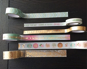 Washi tape - decorative tape - Japanese tape - tape samples - planner supplies - planner accessories - TN supplies - fauxdori accessories