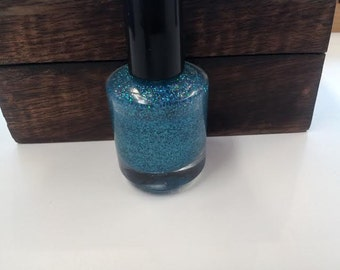 Nail Polish / Still A Mystery / Blue Glitter / Indie Nail Polish / Blue Glitter Polish / 15 ml / 5 Free Nail Polish