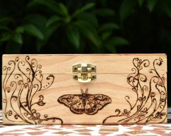 Butterfly Wooden Tea Box