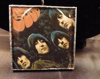 Beatles Rubber Soul Album Doublesided Pendant