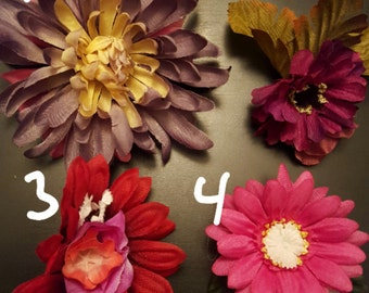 Huge statement flower clips!