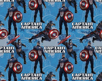 Marvel Captian America Star Fabric From Springs Creative