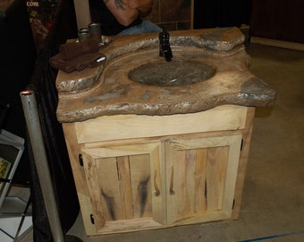 Custom made Vanity w/ Concrete Countertop