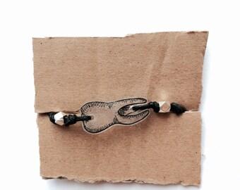 tooth bracelet hand illustrated shrinky dink plastic