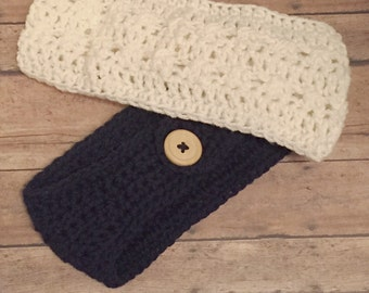 Crochet Ear Warmer 2 Pack~~Crochet Headband 2 Pack~Crochet Headband Special--The Samantha Head Band--MPH03