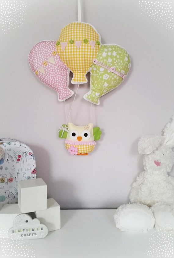 pink and yellow owl mobile nursery decor baby shower gifts baby