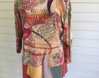 Upcycled tunic tee dress