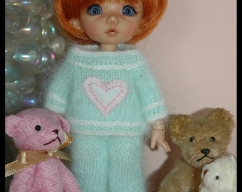 Handmade: angora sweater for Lati yellow, pukifee, tiny