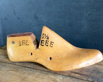 Antique Wooden Shoe Cobbler's Shoe Form