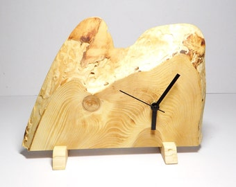 Clock, wooden desk clock, rustic wall clock, gift ideas (039)
