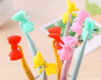 Cute Bow Pens / Cute Pens / Kawaii Pens / Cute Stationery / Cute Stationary / Cute School Supplies / Back to School Supplies / Cute Gel Pens