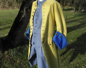 18th century waistcoat , vest and breeches (size L)