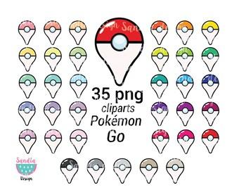35 Pokemon Go Cliparts, Pokemon Point, Imágenes Prediseñadas. Personal and comercial use.