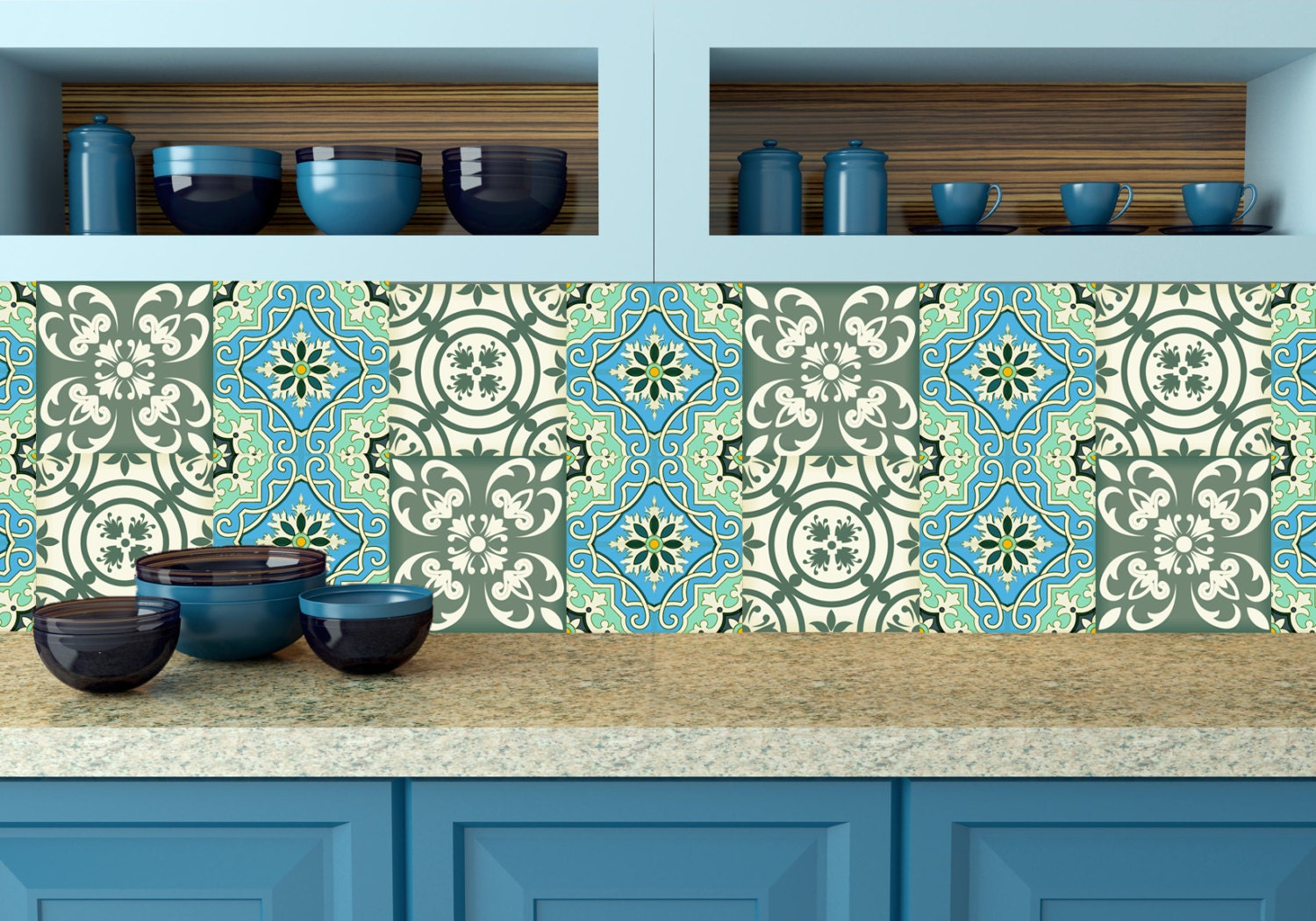 Https Www Etsy Com Listing 260241864 Tavalera Kitchen Tile Set Of 24 Tiles
