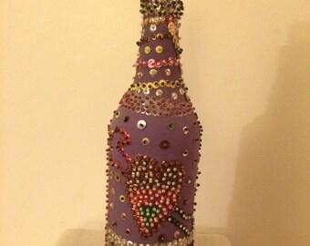 Vintage Haitian Voodoo Spirit Bottle, Sacred Art