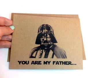 Star Wars Fathers day card-  4x5- 5x7