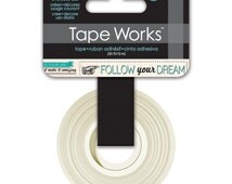 15mm Tape Works Inspirational Follow Your Dreams Pattern Washi Tape. Office Supplies. Scrapbooking. Inspirational Washi.