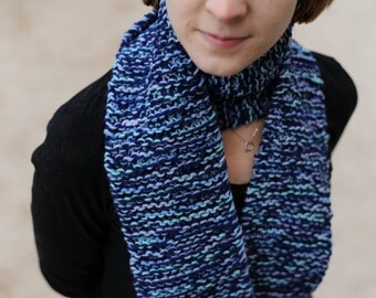 Blue Double Stranded Scarf