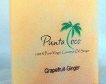 Grapefruit-Ginger Coconut Soap