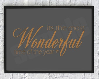 Wonderful Time Of The Year, Christmas, Wall Art, Print