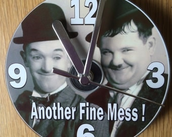 "LAUREL and HARDY ""Another Fine Mess"" CD Clock (Can be Personalised)"