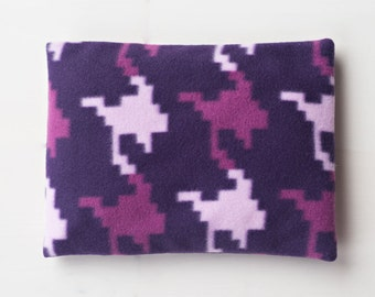 Small Therapeutic Fragrance Free Flaxseed Neck Pillow Pillows Moist Heat Pack Cool Pack Washable Fleece Cover Pixel Camo Purple Lavender