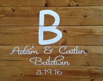 Wedding guest book wood sign