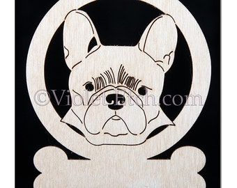 French Bulldog Ornament-French Bulldog Gift-Free Personalization