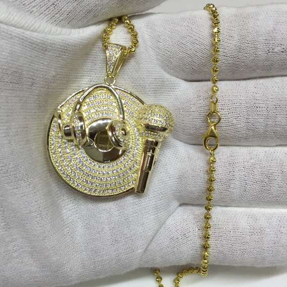 hip hop custom pendant with lab made diamonds by ForCustom Lab Made Hip Hop Jewelry