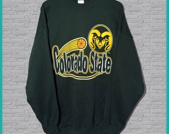 SALE Vintage NWT Colorado State Basketball Crewneck Sweatshirt XL