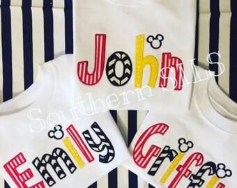 Custom Applique Disney Shirts