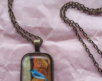 Victorian Bluebird necklace