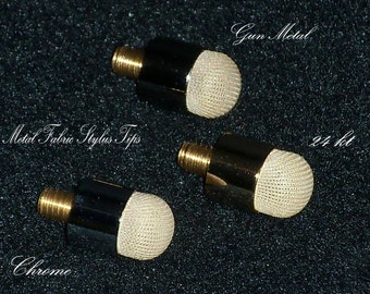 Gun Metal finish Mesh Fabric stylus replacement tip