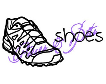 Custom Vinyl Storage Label (Shoes) for kids, non-readers, or visual learners