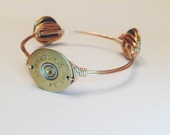 Bangle Bracelet, gold shot gun bangle