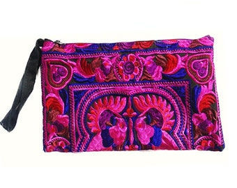 Handmade Boho, Ethnic Bird Clutch Bag