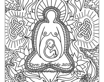 Coloring Pages For Adults Goddess Coloring Page Pagan Pagan Coloring Pages