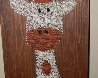 "Giraffe String Art- 12""x 17 3/4"""
