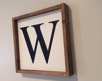 Customized Monogram reclaimed wood sign