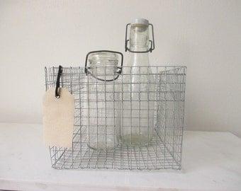 Vintage wire bail top jars (set of 2)