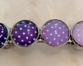 Barrettes  / set of 2 / Purple