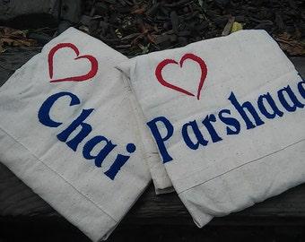 Natural Cotton Apron - Love Chai